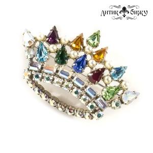 Винтажная брошь «Корона» от B. David