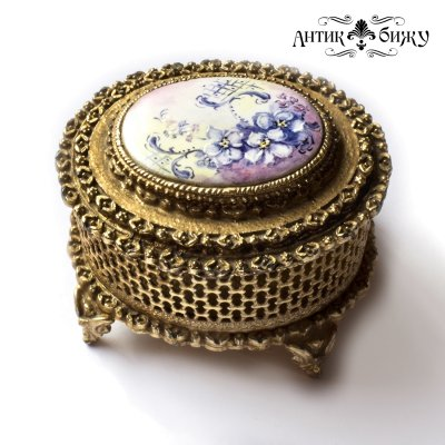 Антикварная шкатулка для украшений от марки Florenza