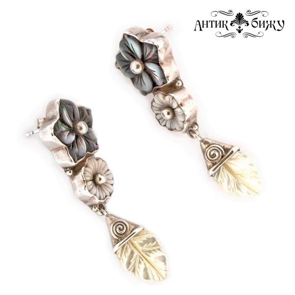 Серебряные винтажные серьги «Цветы» от Sajen для самых оригинальных и стильных