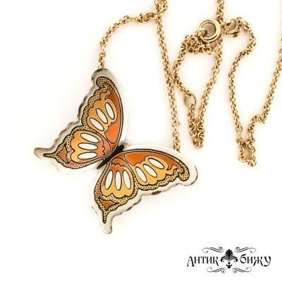 Винтажная подвеска «Бабочка» от Reed & Barton
