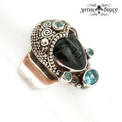Винтажное кольцо «Темная богиня» от Sajen