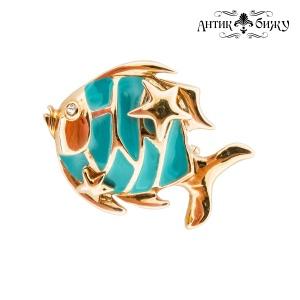 Винтажная брошь «Рыбка» от St. John