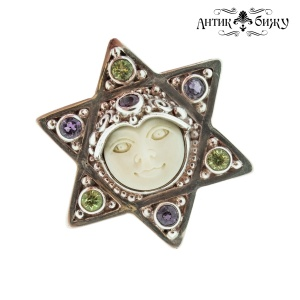 Винтажное серебряное кольцо «Звезда Давида» от Sajen