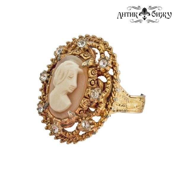 Старинное кольцо «Камея» от Florenza это настоящая бижутерия класса люкс