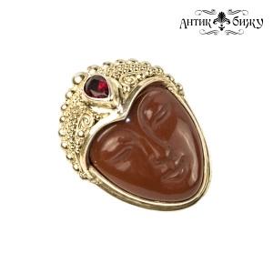 """Винтажное серебряное кольцо """"Лик Богини"""" от Sajen"""