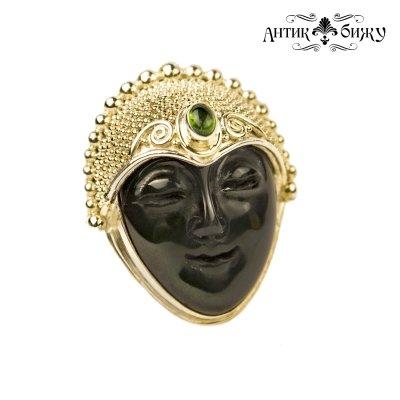 Винтажное серебряное кольцо «Лик спящей Богини» от Sajen