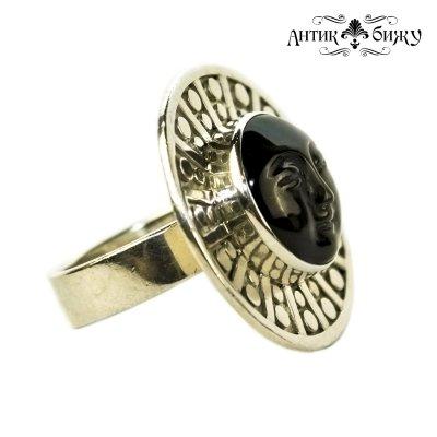 Винтажное серебряное кольцо «Лик Солнца» от Sajen