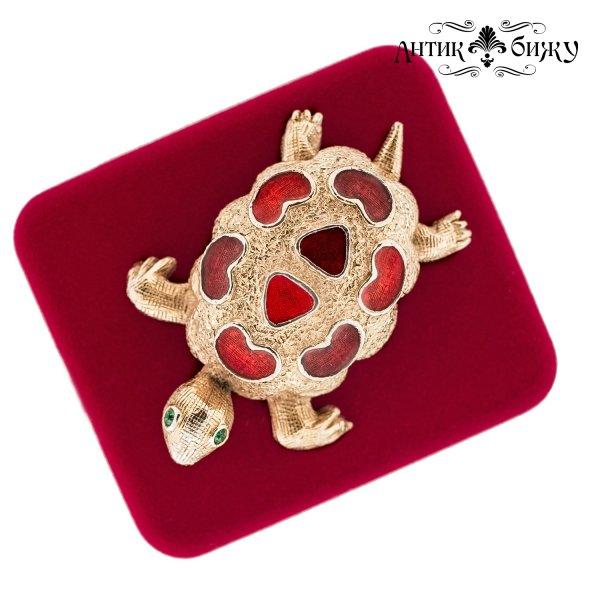 Винтажная брошь «Черепашка» от Florenza для самых оригинальных и стильных