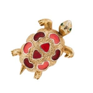 Винтажная брошь «Черепашка» от Florenza