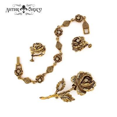 Винтажный комплект «Розы» от Goldette