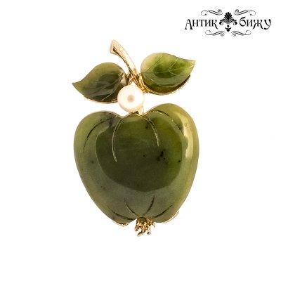 Винтажная брошь «Нефритовое яблоко» от Swoboda
