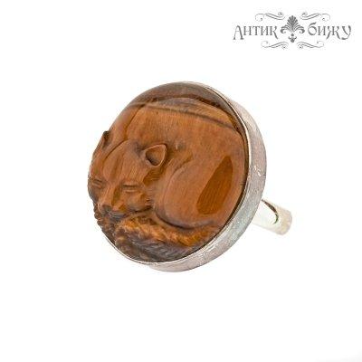 Винтажное серебряное кольцо «Котенок» от Sajen