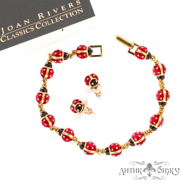 Серьги и браслет «Божьи коровки» от Joan Rivers для самых оригинальных и стильных