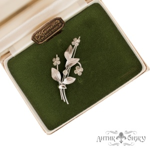 Винтажная брошь «Хрустальный цветок» от Krementz