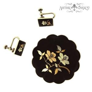 Винтажная серебряная брошь и клипсы от Amita