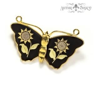 Винтажная японская брошь «Бабочка» от Amita