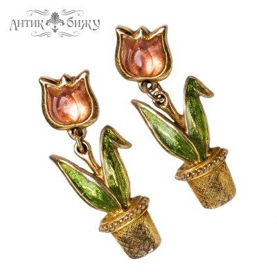 Винтажные серьги «Тюльпаны» от Avon