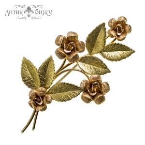 Винтажная брошь «Букет роз» от Krementz