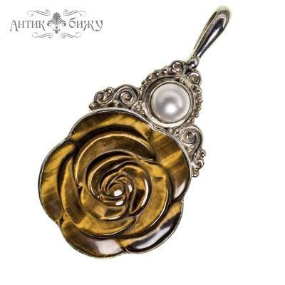 Винтажный кулон «Роза» от Sajen