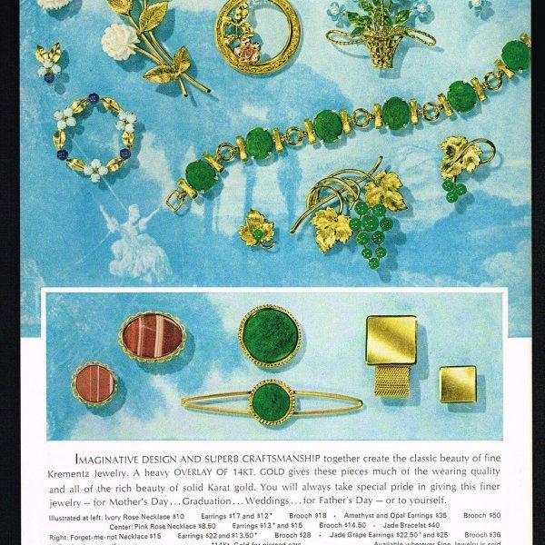 Винтажный браслет «Жадеит» от Krementz редкие антикварные украшения