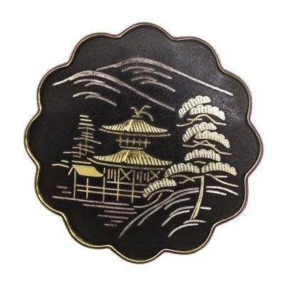 Винтажная брошь «Японский пейзаж» от Amita