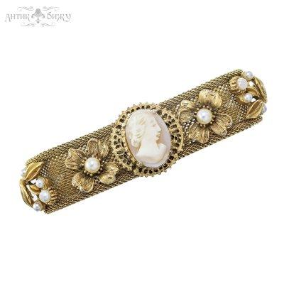 Антикварный браслет с камеей «Дама» от Florenza