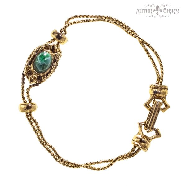 Винтажный браслет «Черепашка» от Goldette оригинальный и эксклюзивный подарок девушке