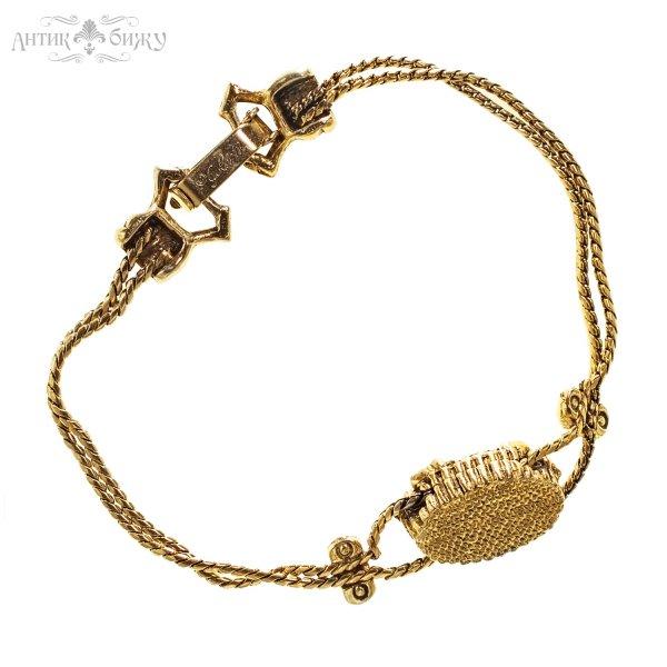 Винтажный браслет «Черепашка» от Goldette редкие антикварные украшения