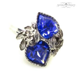 Винтажное кольцо с синими кристаллами от Sarah Coventry