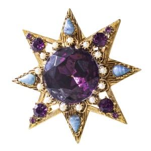 Винтажная брошь «Звезда» от Florenza