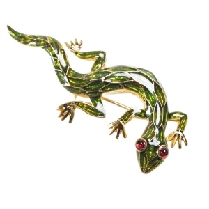Винтажная брошь «Ящерица» от Trifari