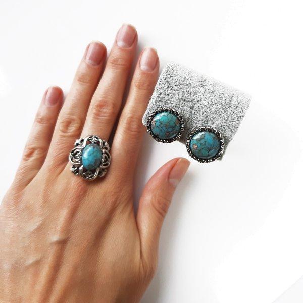 Винтажные клипсы и кольцо «Бирюза» от Sarah Coventry это настоящая бижутерия класса люкс