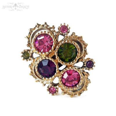 Винтажное кольцо «Austrian lites» от Sarah Coventry