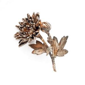 Винтажная серебряная брошь «Астра» от Flora Danica