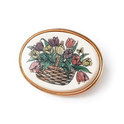 Винтажная брошь «Тюльпаны» от Barlow