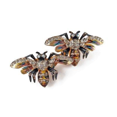Коллекционная брошь «Пчелы» fur clip Coro Duette