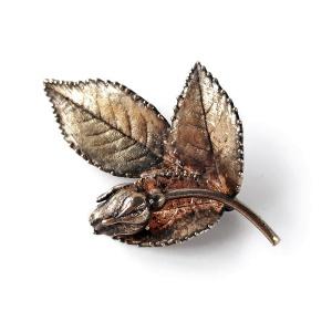 Винтажная брошь «Роза» от Flora Danica