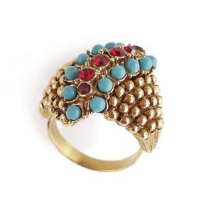 Винтажное коктейльное кольцо «Мерцание» от Florenza