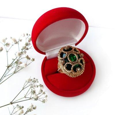 Винтажное кольцо «Тайна изумруда» от Florenza