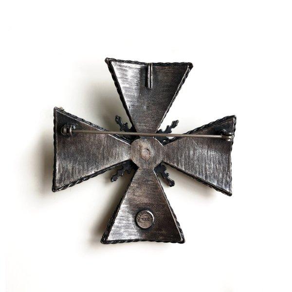 Винтажная коллекционная брошь «Мальтийский крест» от Accessocraft это настоящая бижутерия класса люкс