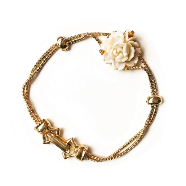 Винтажный браслет «Чайная роза» от Goldette оригинальный и эксклюзивный подарок девушке