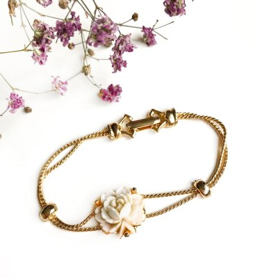 Винтажный браслет «Чайная роза» от Goldette