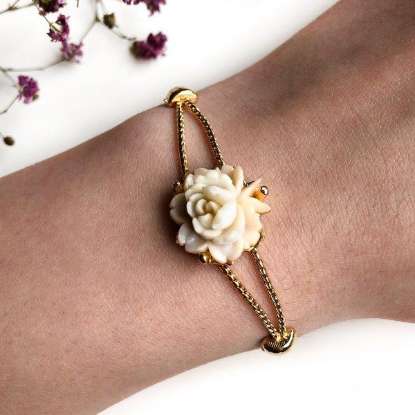 Винтажный браслет «Чайная роза» от Goldette для самых оригинальных и стильных