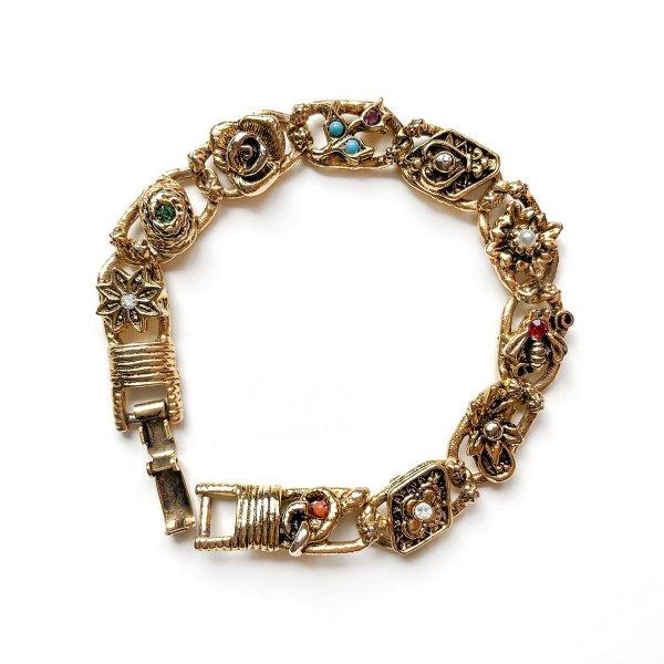 Винтажный браслет «Моменты» от Goldette для любителей старины и антиквариата