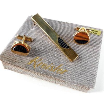 Антикварные запонки и зажим для галстука Kreisler USA