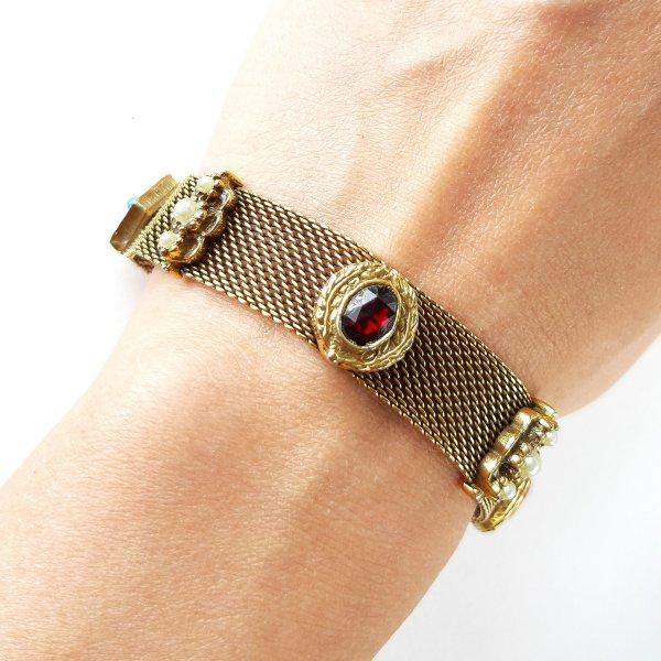 Винтажный браслет «Ар-деко» от Goldette это настоящая бижутерия класса люкс
