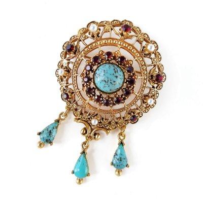 Винтажная брошь «Королевский бал» от Florenza