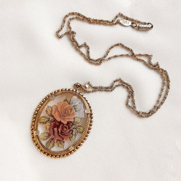 Винтажный кулон на цепи от 1928 Jewelry для любителей старины и антиквариата