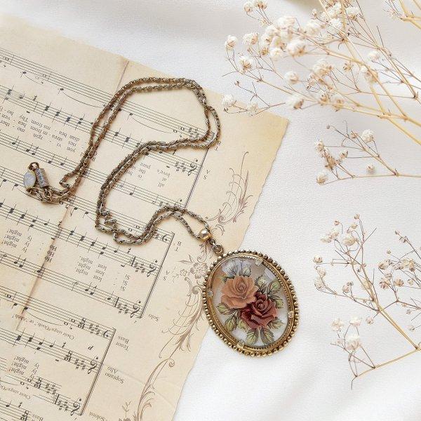 Винтажный кулон на цепи от 1928 Jewelry оригинальный и эксклюзивный подарок девушке