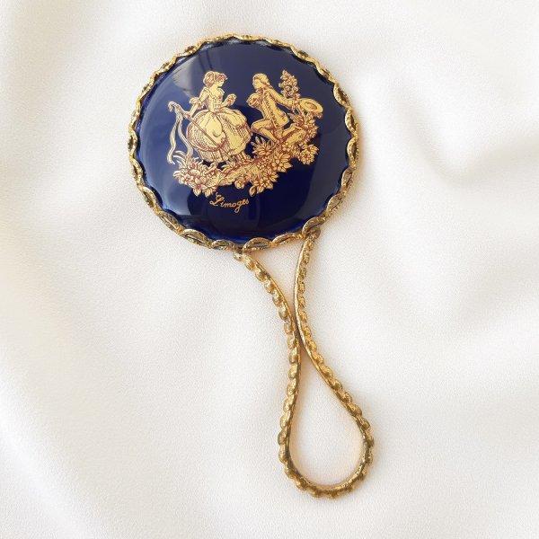 Винтажное ручное зеркало Limoges из Франции Купить винтаж